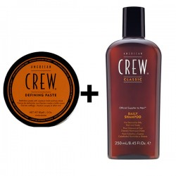 American Crew Defining Paste 85g + Daily Shampoo 250ml