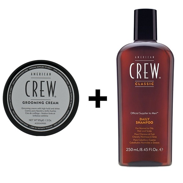 American Crew Grooming Cream 85g + Daily Shampoo 250ml
