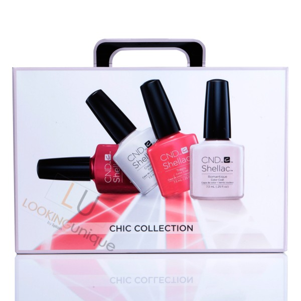 CND Shellac Chic Collection Starter Pack/Trial Kit 4 Classic Colours Included