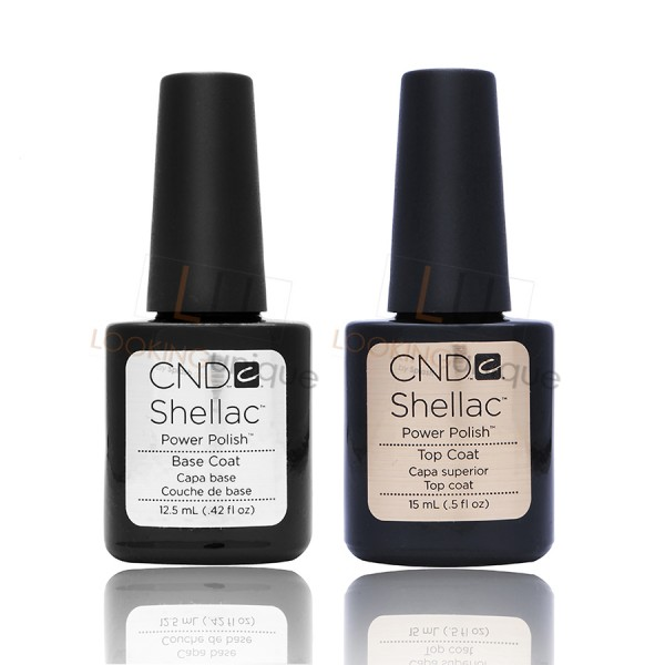 CND Shellac - LARGE Top Coat and Base Coat