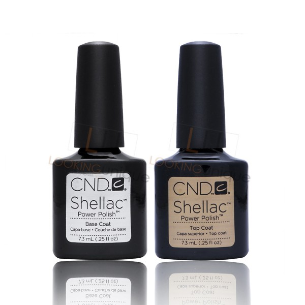 CND Shellac - Top Coat and Base Coat - Gel Nail Polish 2x 7.3ml