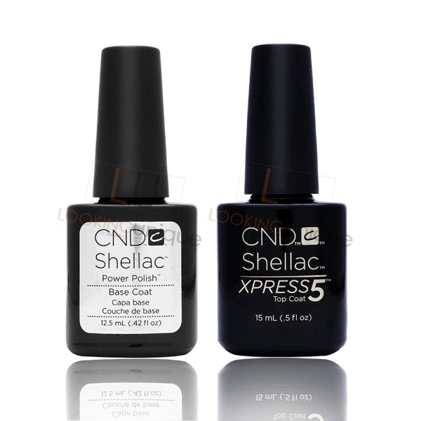 CND Shellac - XPRESS5 Top Coat and Base Coat LARGE