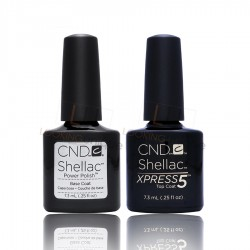 CND Shellac - XPRESS5 Top Coat and Base Coat - 2x 7.3ml