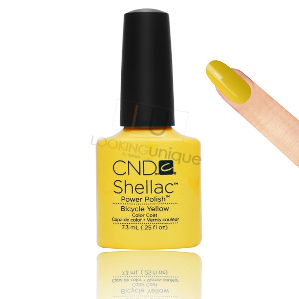 CND Shellac - Bicycle Yellow - Gel Nail polish 7.3ml