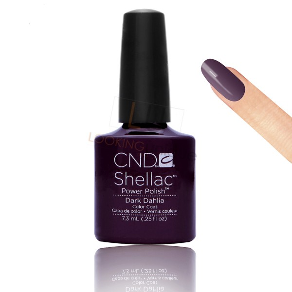 CND Shellac - Dark Dahlia - Gel Nail polish 7.3ml
