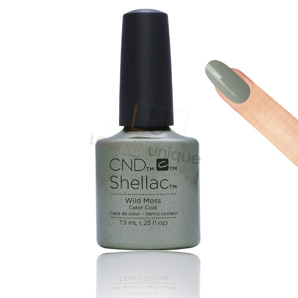CND Shellac - Wild Moss - Gel Nail polish 7.3ml