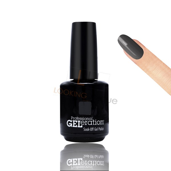 Jessica Geleration UV/LED Nail Gel Polish - Black Lustre 15ml