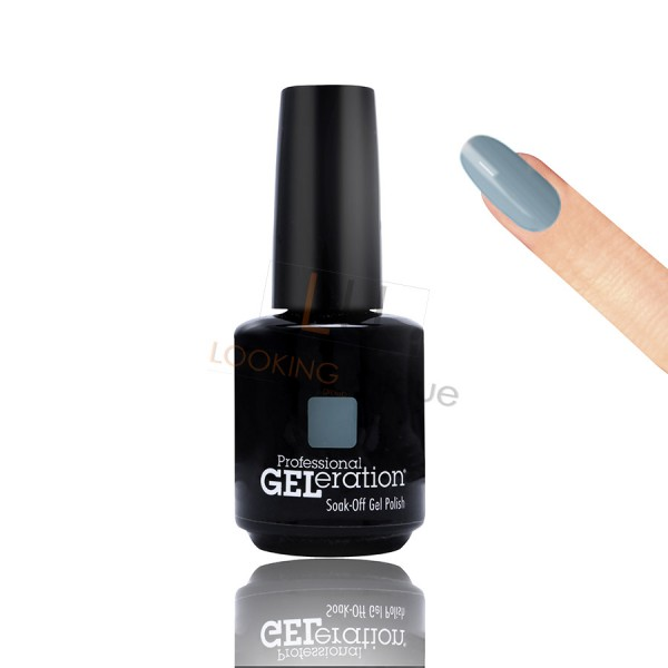 Jessica Geleration UV/LED Nail Gel Polish - Faux Fur Blue 15ml