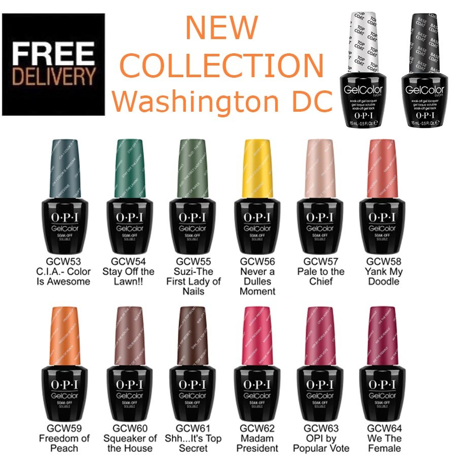 Opi Gel Collections Colours Base Coat Or Top Coat Ebay