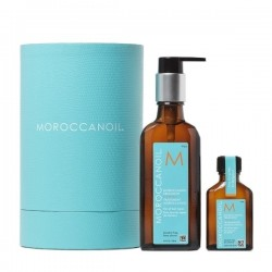 Moroccanoil Oil Treatment Home 100ml and Travel 25ml Christmas Gift Set