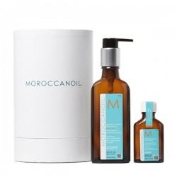 Moroccanoil Oil Light Treatment Home 100ml and Travel 25ml Christmas Gift Set