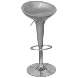 Silver Plastic BAR STOOL BOMBO Style Gas Lift