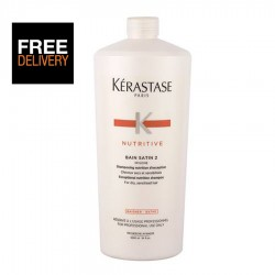 Kerastase Nutritive Bain Satin 2 1000ml, Salon Size 1 litre, Professional Use