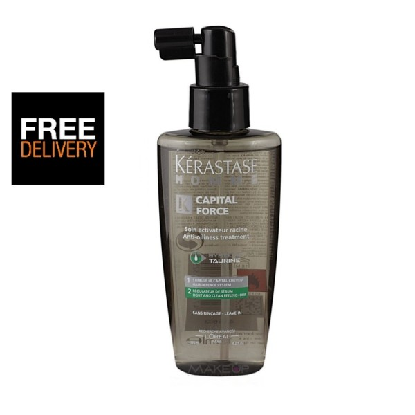 Kerastase Homme Capital Force Anti-Oiliness Leave-In Treatment 125ml - Light and Clean Feeling Hair